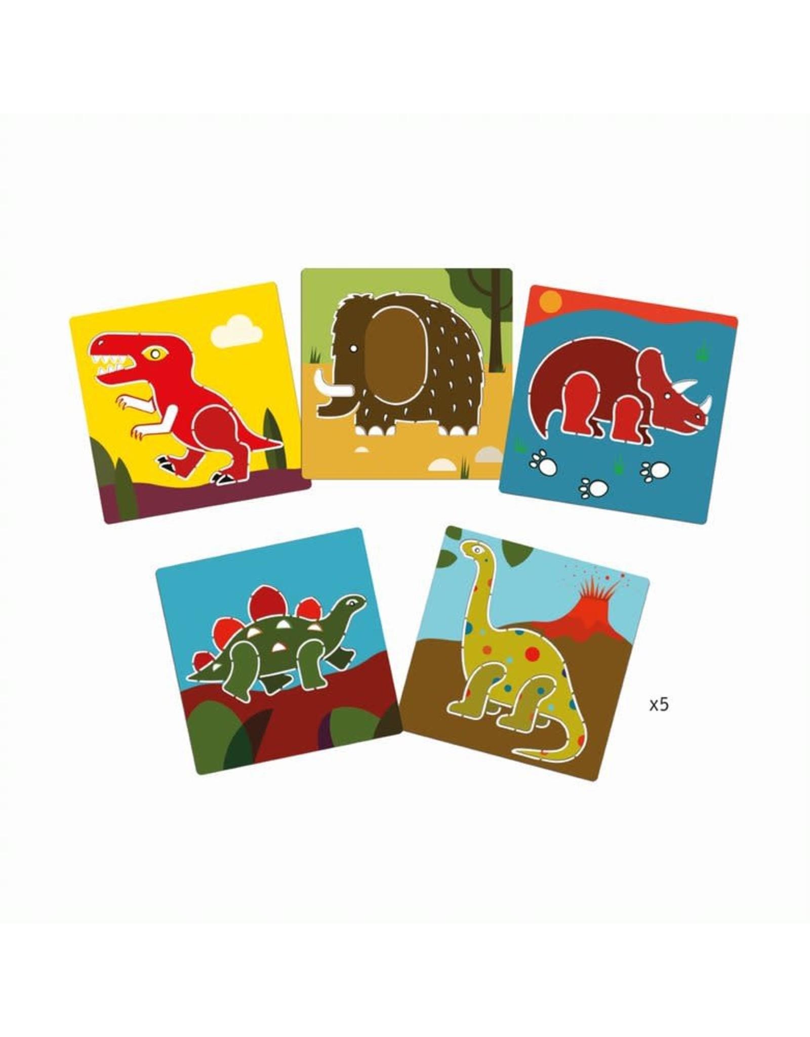Djeco Dinosaur Stencils Set