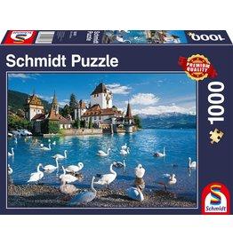 Schmidt Lakeshore Swans 1000pc Puzzle