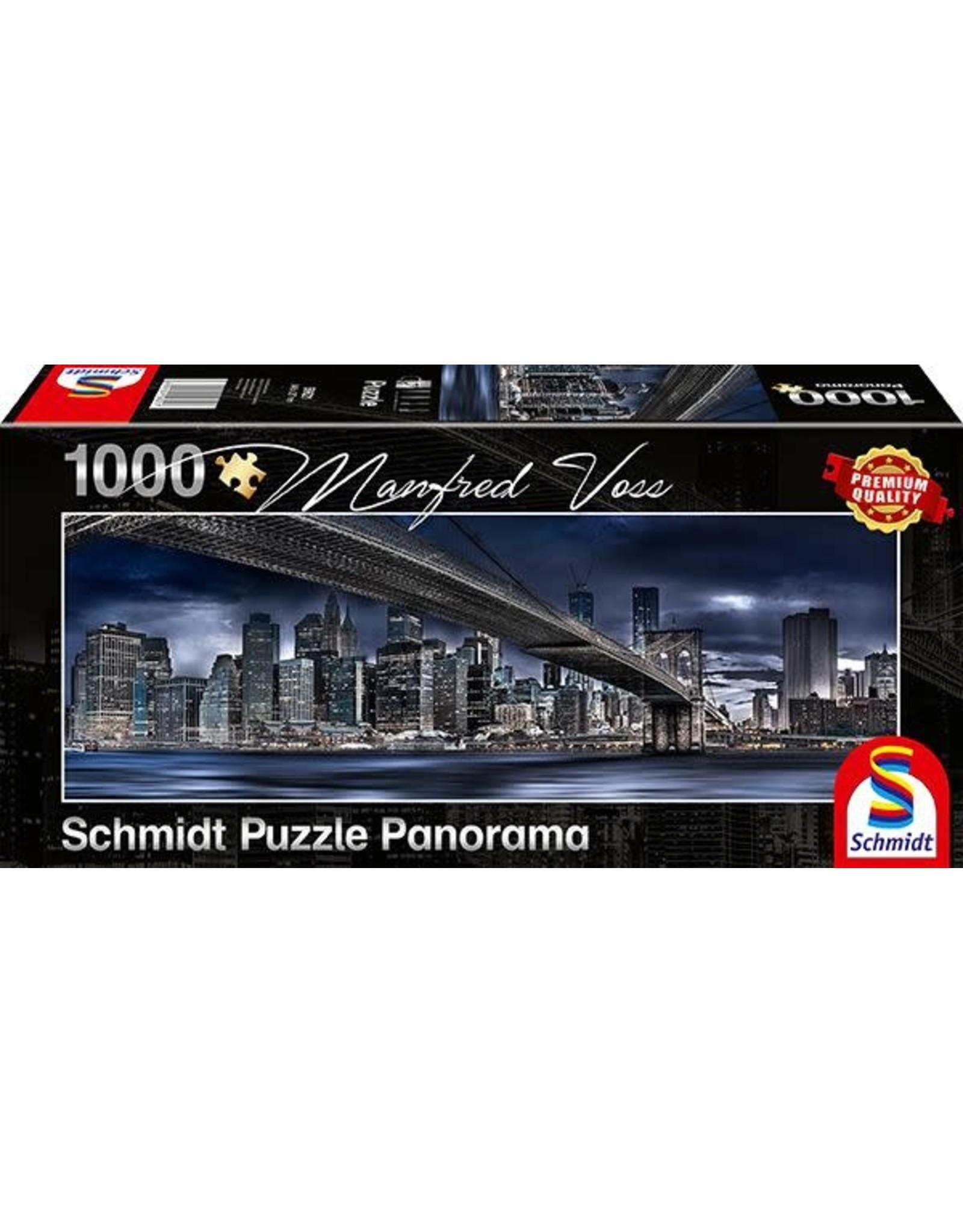 Schmidt New York Dark Night 1000pc Panorama Puzzle