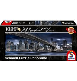 Schmidt New York Dark Night 1000pc Panorama Puzzle