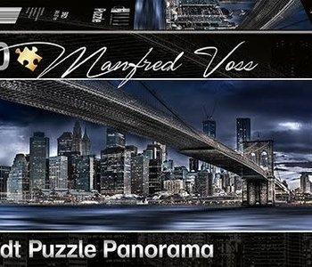 New York Dark Night 1000pc Panorama Puzzle