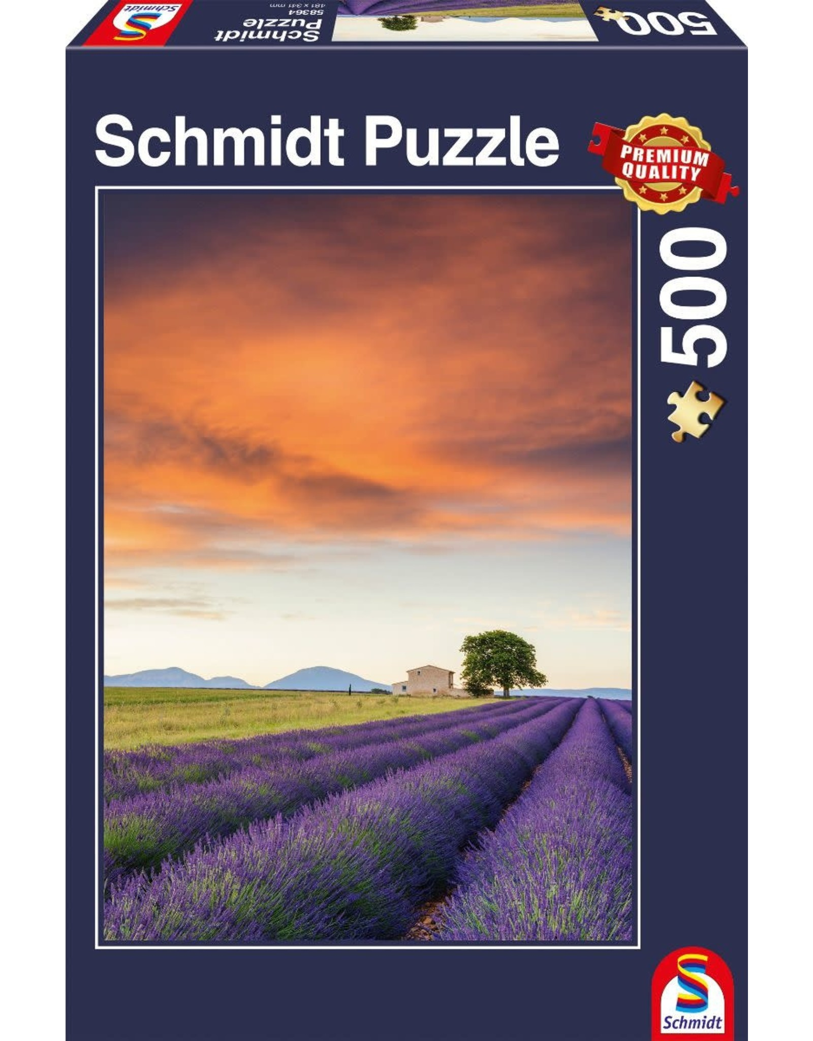Schmidt Field of Lavender, Provence 500pc Puzzle