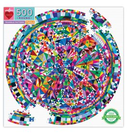 eeBoo Triangle Patterns 500pc Round Puzzle
