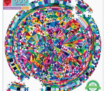 Triangle Patterns 500pc Round Puzzle