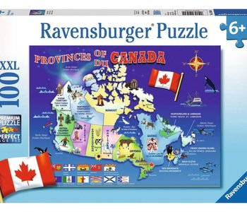 Map of Canada 100pc Puzzle