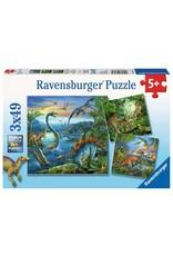 Ravensburger Dinosaur Fascination 3x49pc Puzzle