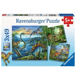 Ravensburger Dinosaur Fascination 3x49pc Puzzle