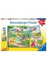 Ravensburger Rapunzel, Red Riding Hood & Frog King 3x49pc Puzzles