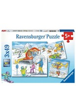 Ravensburger Let's Go Skiing 3x49pc Puzzles