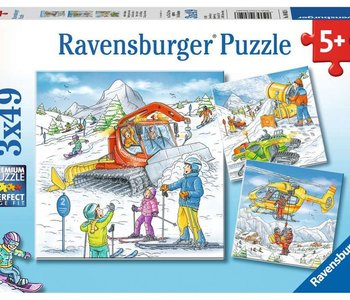 Let's Go Skiing 3x49pc Puzzles