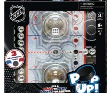 NHL Dice Pop Up Game