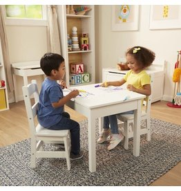 Melissa & Doug Wooden Table & Chairs (2 chairs) White - Melissa & Doug