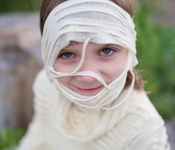 Mummy Costume beige ages 5-6