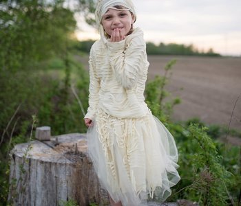 Mummy Costume w skirt ages 5-6