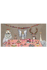 "Greenbox Snowy Owl's Party 48x24"" Painting"