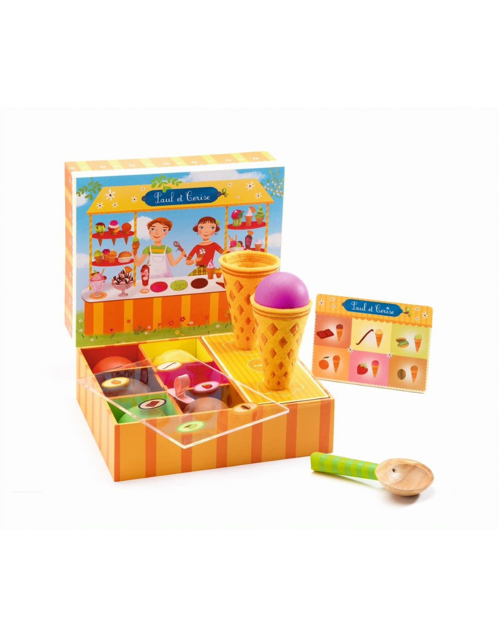 Djeco Paul & Cerise Ice Cream Play Set