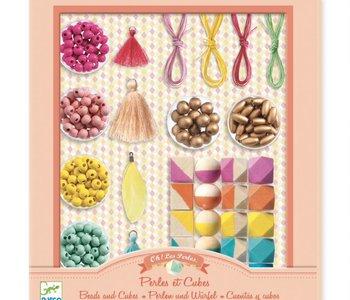 Pearl & Cubes Bead Set