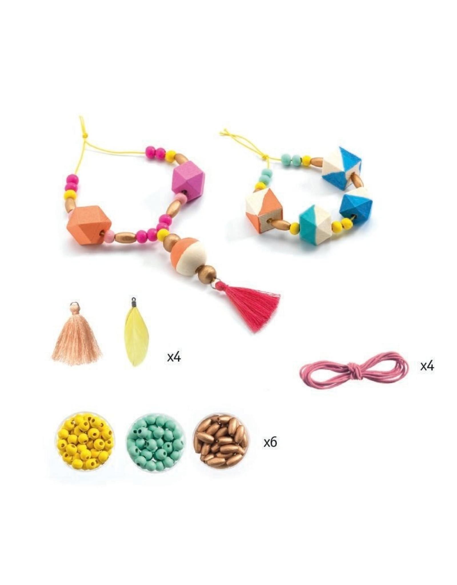 Djeco Pearl & Cubes Bead Set