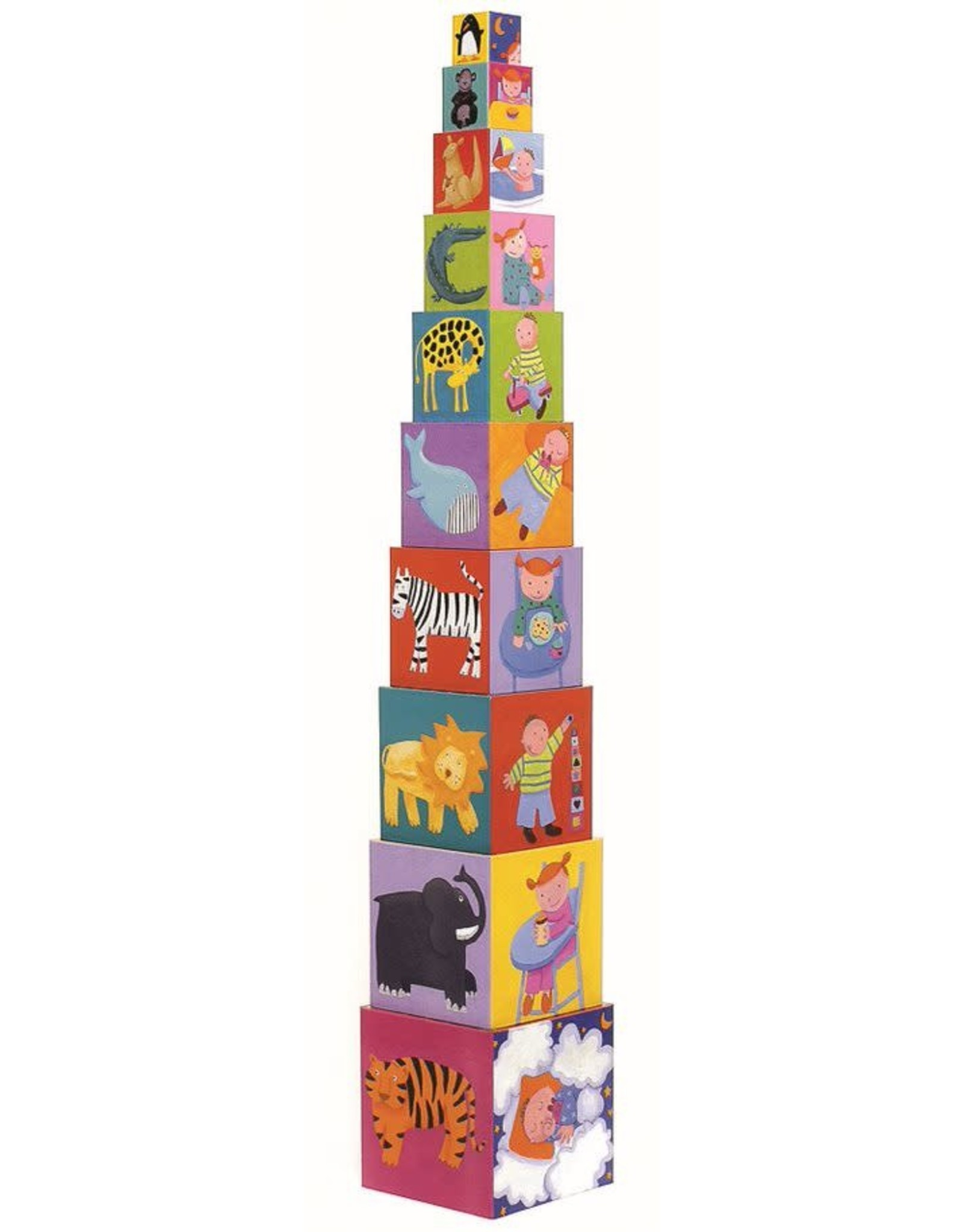 Djeco Stacking Cubes: Funny Blocks