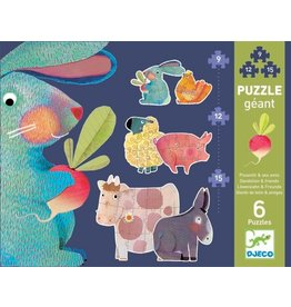 Djeco Dandelion & Friends Giant Puzzle 2 x 9, 12 & 15pc