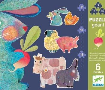 Dandelion & Friends Giant Puzzle 2 x 9, 12 & 15pc