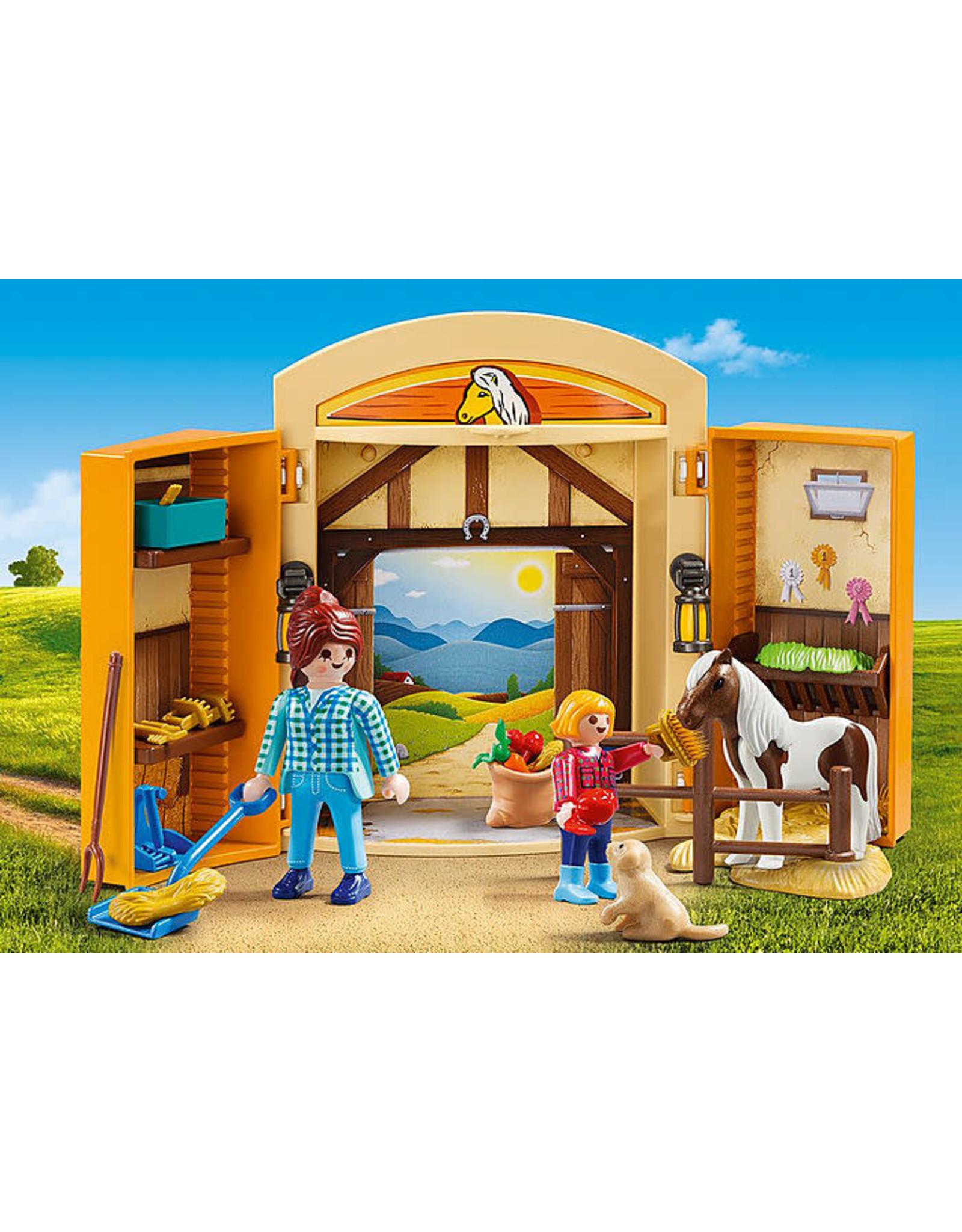 Playmobil Pony Stable Play Box