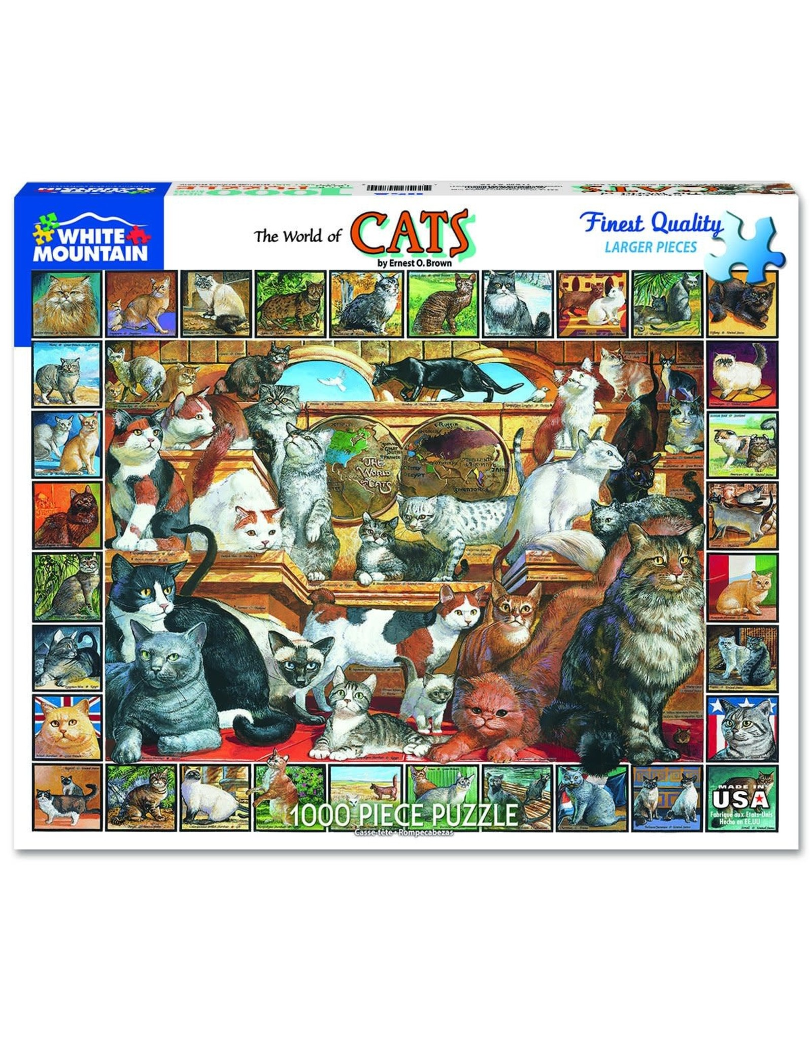 White Mountain The World of Cats 1000pc Puzzle