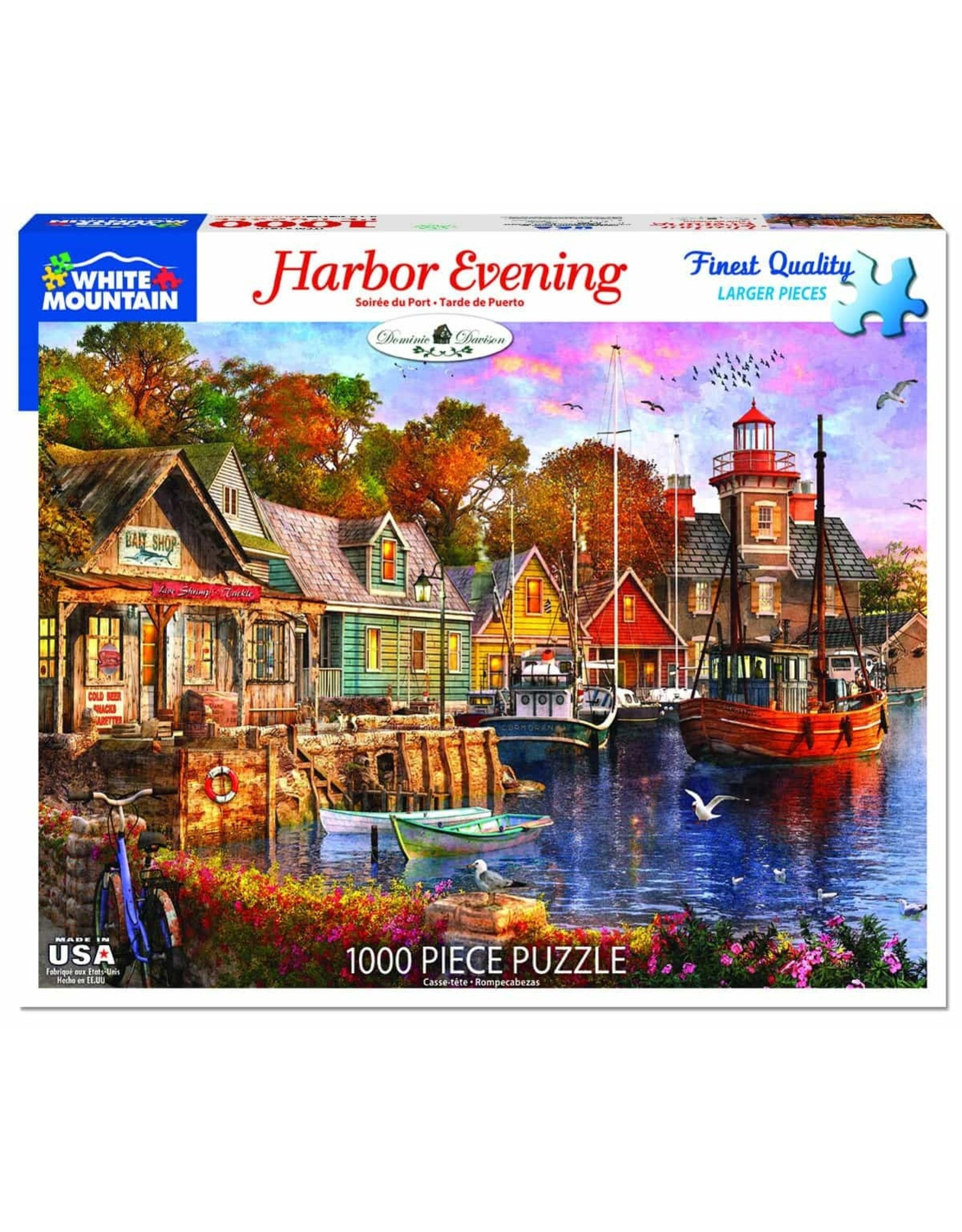 White Mountain Harbour Evening 1000pc Puzzle