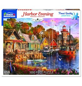 White Mountain Harbour Evening 1000pc Puzzle