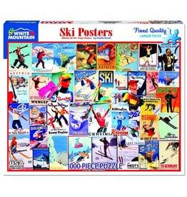 White Mountain SKI Posters 1000pc Puzzle