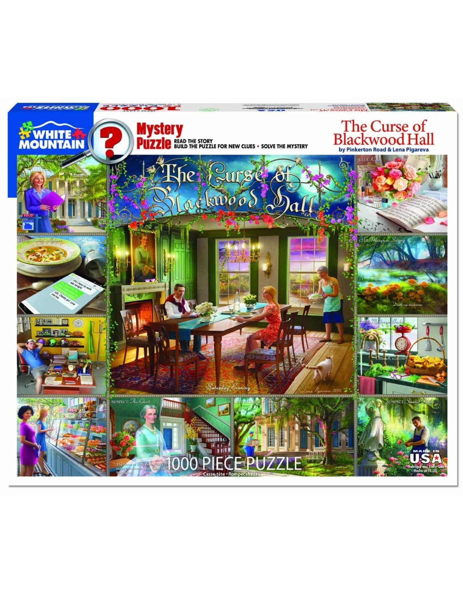 White Mountain The Curse of Blackwood Hall 1000pc Puzzle