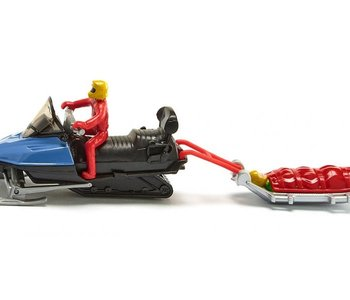 Snowmobile with rescue sledge