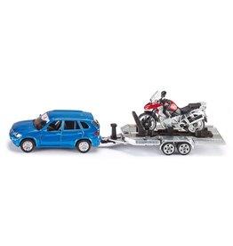 Siku Siku BMW X5 4.8i with Trailer & BMW R 1200 GS Motorbike