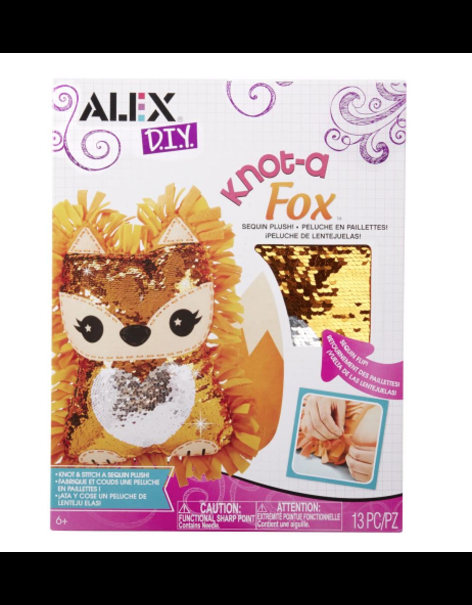 ALEX DIY Knot a Fox Sequin Plush Kit