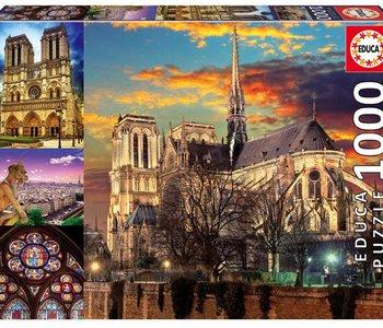 Notre Dame Collage 1000pc Puzzle