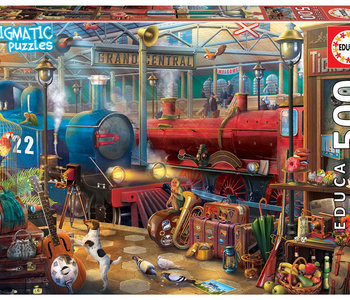 Train Station Enigmatic Mystery 500pc Puzzle