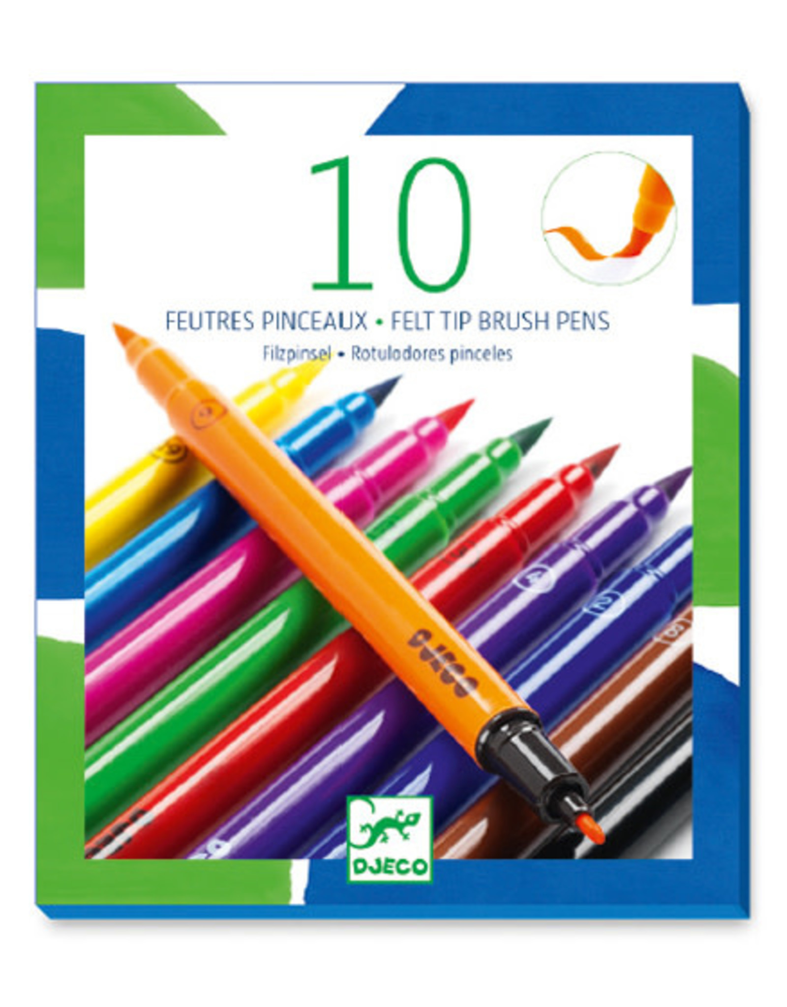 Djeco Felt Brush Markers (10pc)