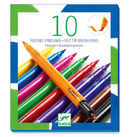 Djeco Felt Brush Markers (10pc)