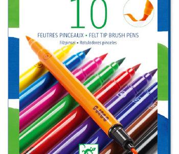 Felt Brush Markers (10pc)