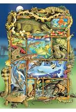 Cobble Hill Reptiles & Amphibians - 350 pc Family Puzzle