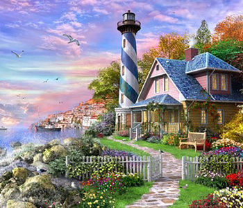 Lighthouse at Rock Bay 1000pc Puzzle