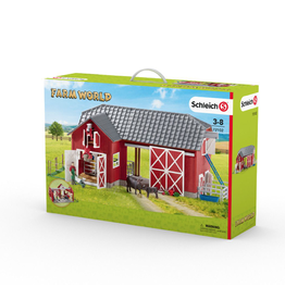 Schleich® Large Red Barnwith Animals and Accessories