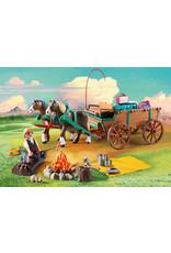 Playmobil Spirit: Lucky's Dad & Wagon
