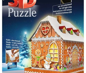 Gingerbread House 216pc 3D Puzzle
