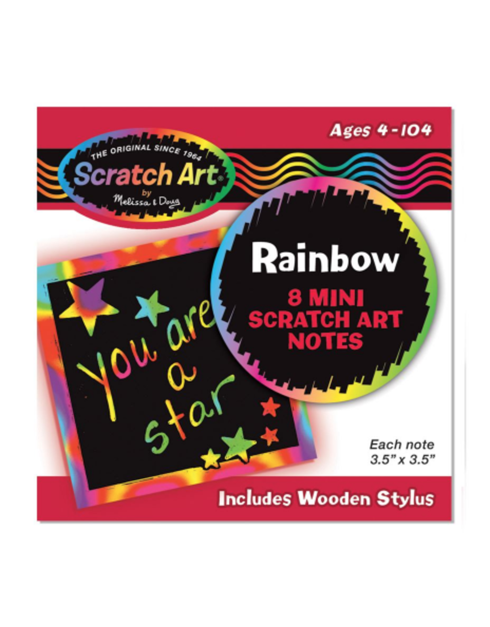 Melissa & Doug Scratch Art Mini Notes rainbow