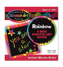Melissa & Doug Scratch Art Mini Notes rainbow