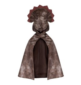 Great Pretenders Triceratops Hooded Cape brown 4-5