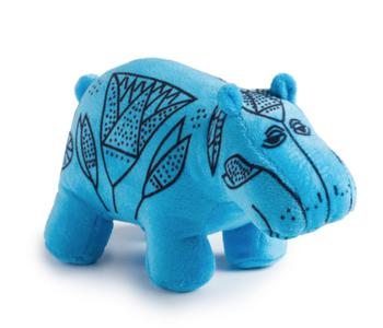 One Blue Hippo William Plush