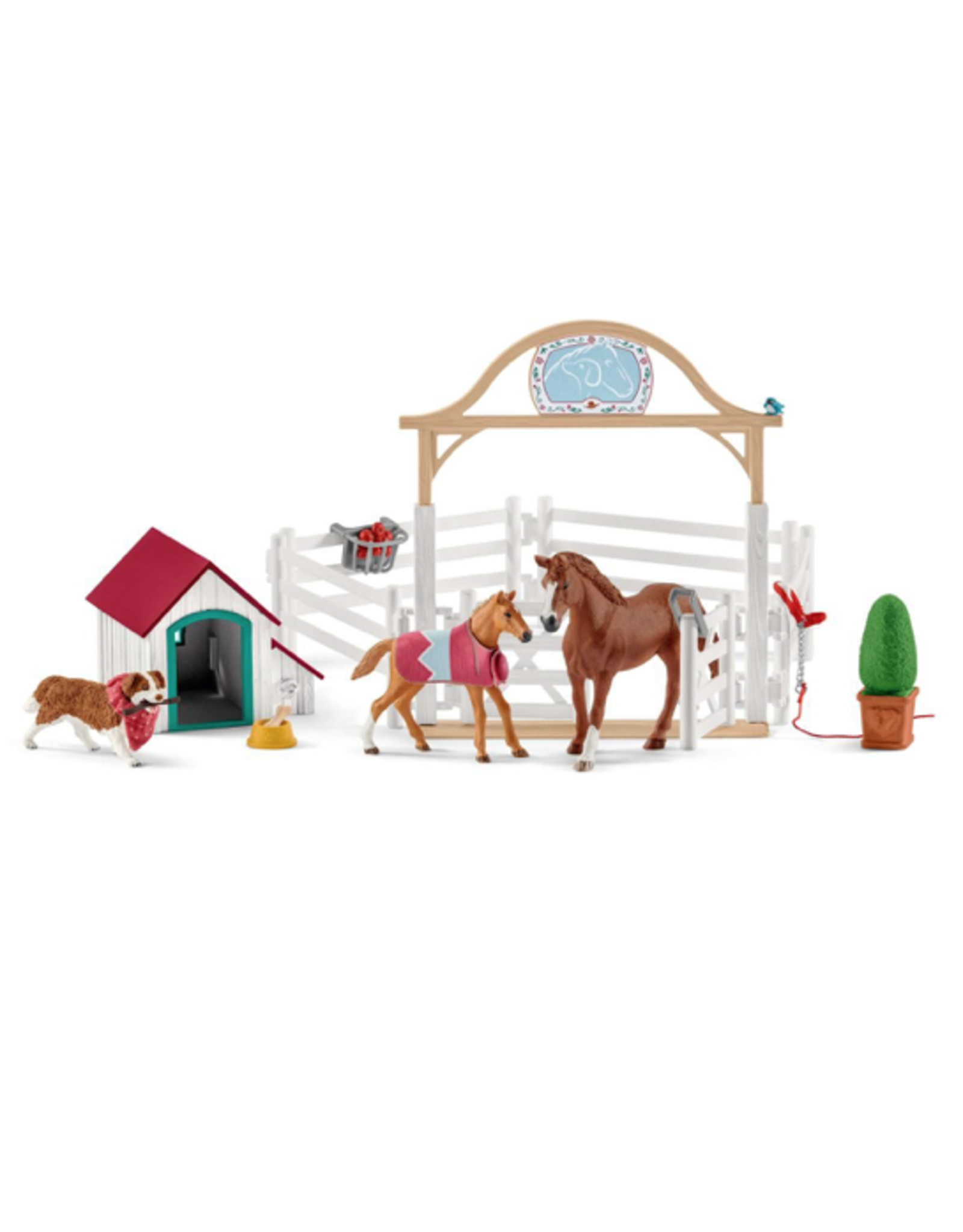 Schleich® Horse Club Hannah's Guest Horses w Ruby the Dog