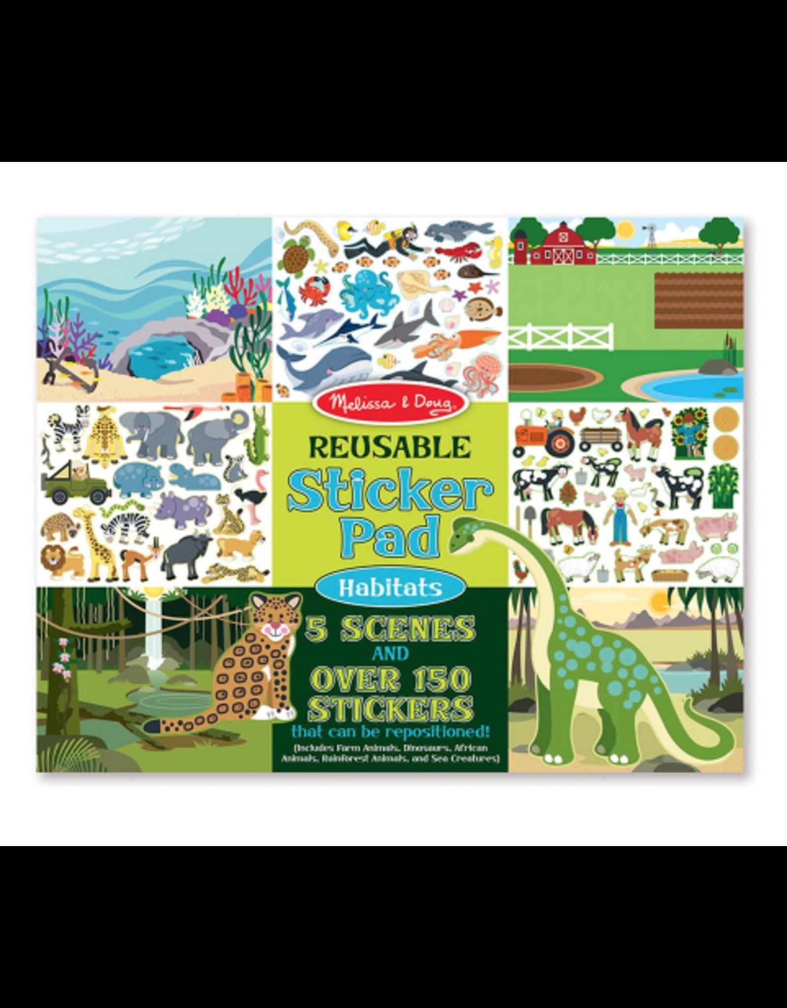 Melissa & Doug Reusable Sticker Pad: Habitats